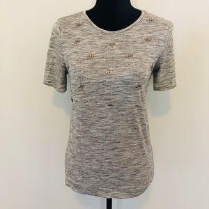 Ann Taylor jeweled t shirt